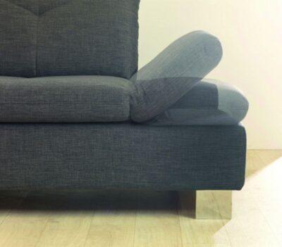 ADA Trendline Madrid L alakú ülőgarnitúra sarokpaddal és háttámla, fejtámla, karfa funkcióval
