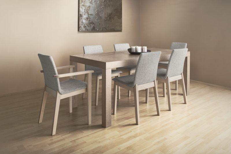 Hool tölgy natúr étkezőasztal.Dortmund szék bárszék karszék