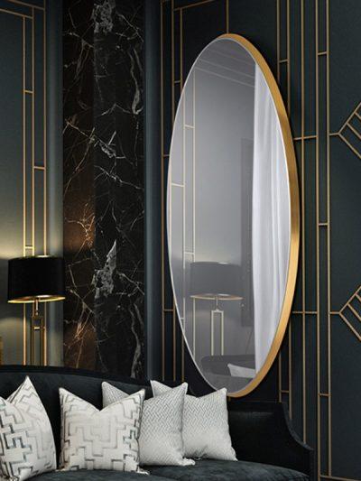 Aries aranyszínű ovális tükör 119573