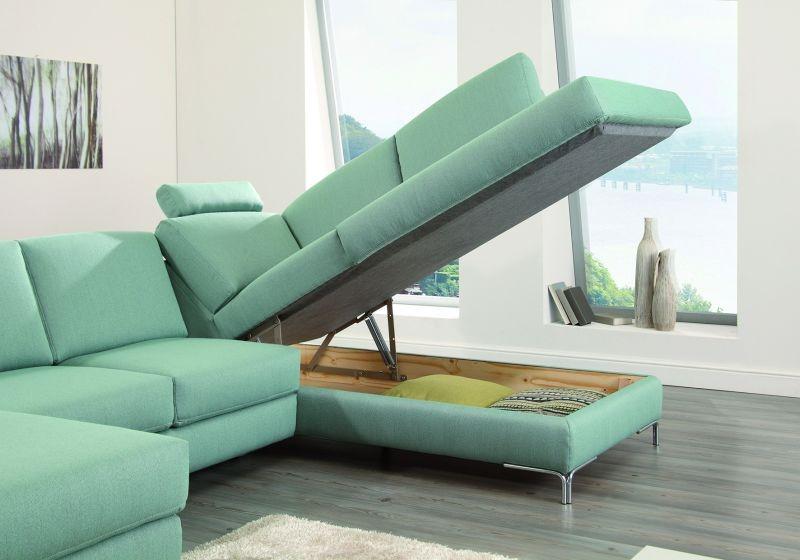 BRÜSSEL U alakú ülőgarnitúra, pihenőkanapés változatban is