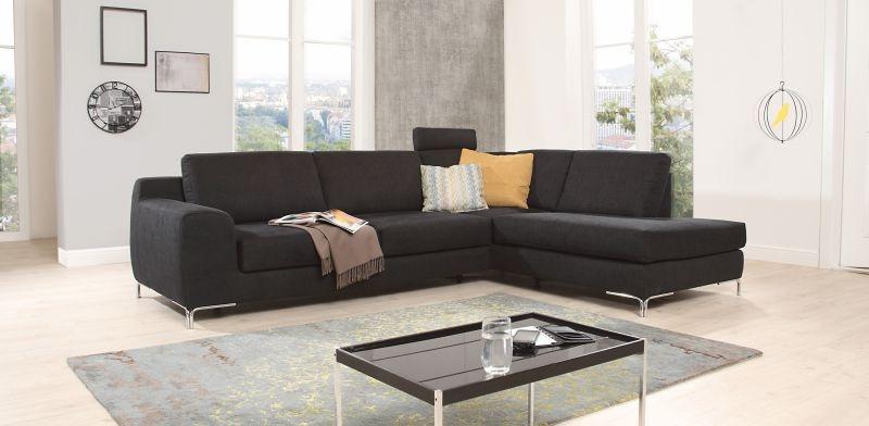 ADA BRÜSSEL ülőgarnitúra L- lakú, ágyazható, fekete és többféle színben - RIO art & Design