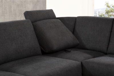 ADA BRÜSSEL ülőgarnitúra L alakú, ágyazható, fekete és többféle színben