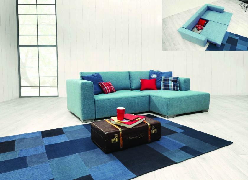 A Tom Tailor Heaven Style ülőgarnitúraletisztult vonalvezetésű, kissé kubusos formájú, modern, fiatalosmodell.