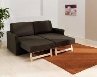 ADA Flexy nyitható kanapé teljesen nyitott állapotban párnákkal