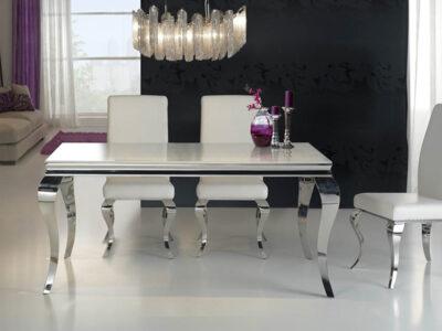 BARROQUE étkezőasztal (168 x 98 cm), Barroque székekkel