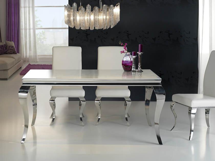 BARROQUE étkezőasztal (168*98 cm), barroque székekkel