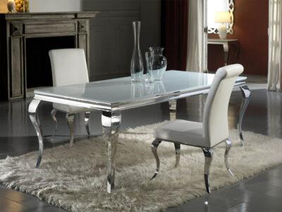 BARROQUE étkezőasztal (208 x 108 cm) Barroque székekkel