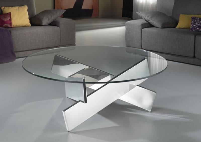 DENVER dohányzóasztal egyedi stílus kör asztallap