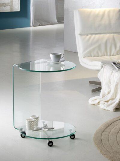 GLASS kör alapú hajlított dohányzóasztal