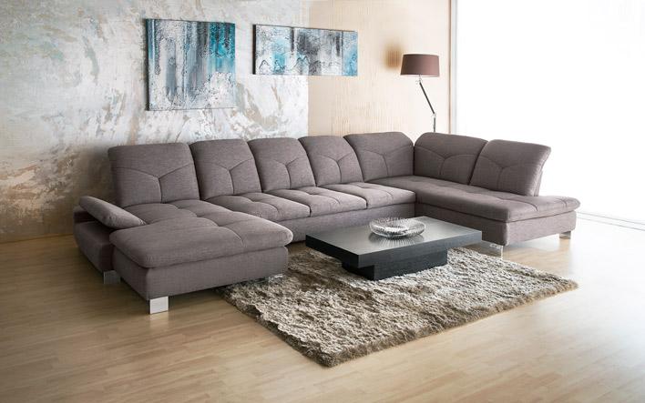 ADA Trendline Madrid kanapé U alakú, ággyá nyitható, állítható ülésmélységű