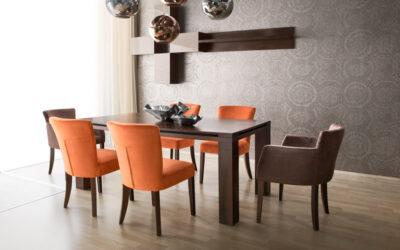 SYB 14 étkezőfotel és SYB 16 szék, Control nagyobbítható étkezőasztal