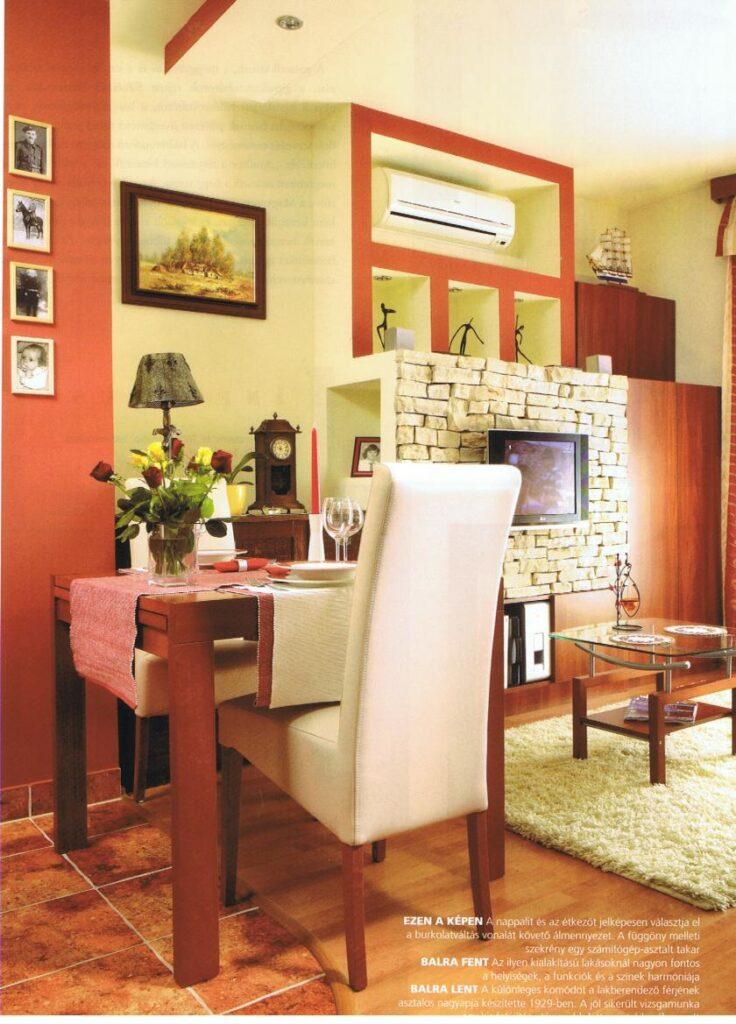 Bézs Bangkok székek egy kis alapterületű otthonban