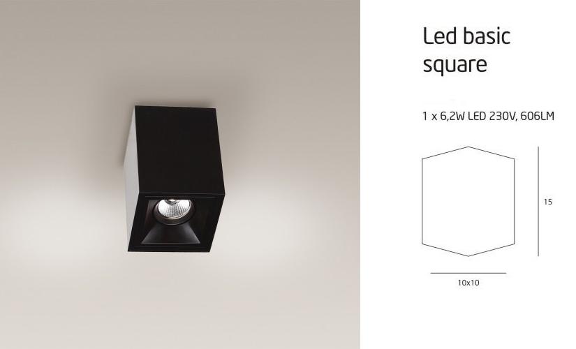 LED BASIC SQUARE C0053 LÁMPA