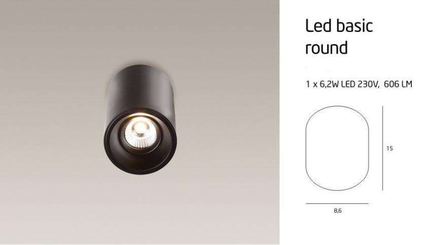 LED BASIC ROUND C0052 LÁMPA