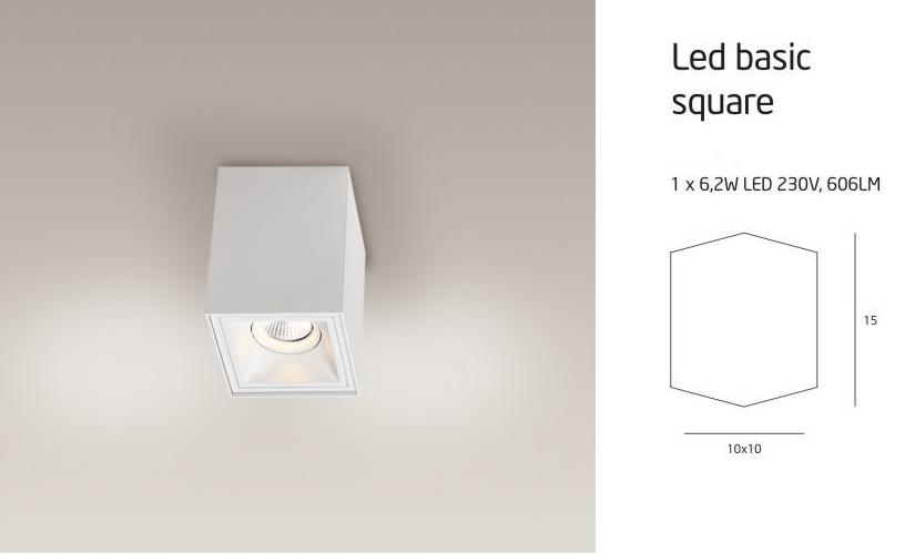 LED BASIC SQUARE C0054 LÁMPA