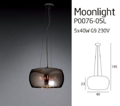 MOONLIGHT P0076-05L LÁMPA