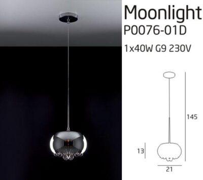 MOONLIGHT P0076-01D PLAFON LÁMPA