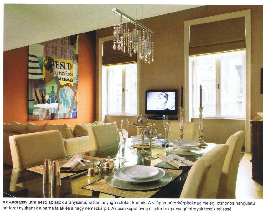 A nappali központi eleme az étkezőasztal