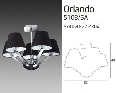 ORLANDO 5103/5A FEKETE