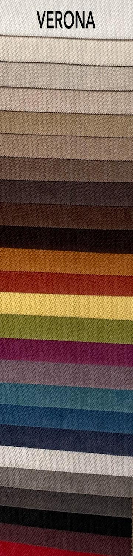 Verona bútorszövet szín- és anyagminta