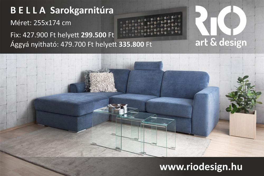 Bella sarokgarnitúra Rio art & design - ADA kanapék és ülőgarnitúrák