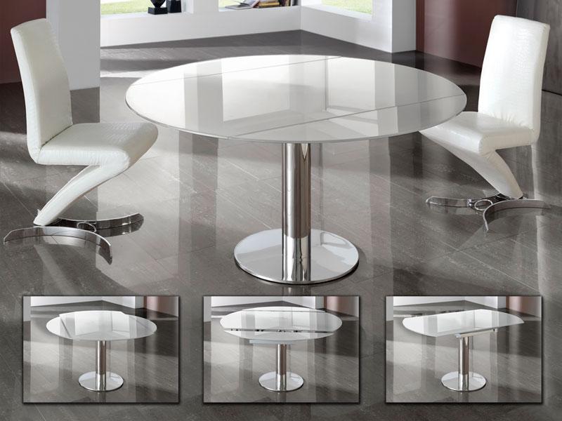 Az Alba bővíthető üveg étkezőasztal kitűnő választás lehet azok számára, akik még nem tudják, hogy kör alakú vagy szögletes asztalt válasszanak otthonukba.