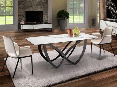 Formas étkezőasztal és SOWA karszék