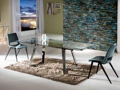 Wanda bővíthető étkezőasztal és Aloha szék