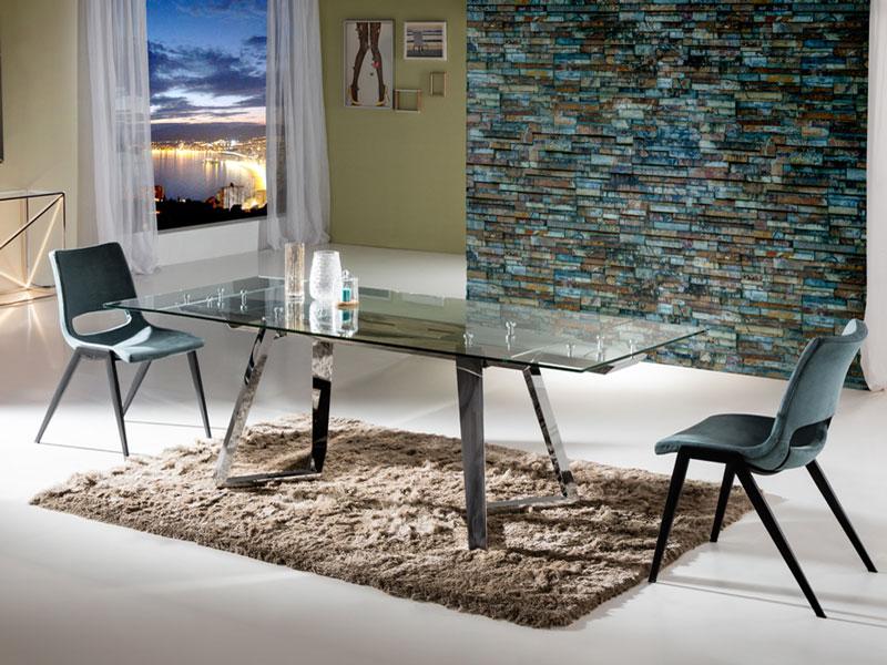 A Wanda bővíthető étkezőasztal Aloha székekkel mérete bármikor egyszerűen változtatható