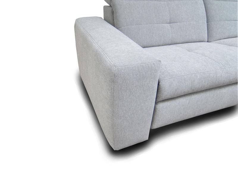 ADA Milano ülőgarnitúra B karfa: széles változat láb nélkül.