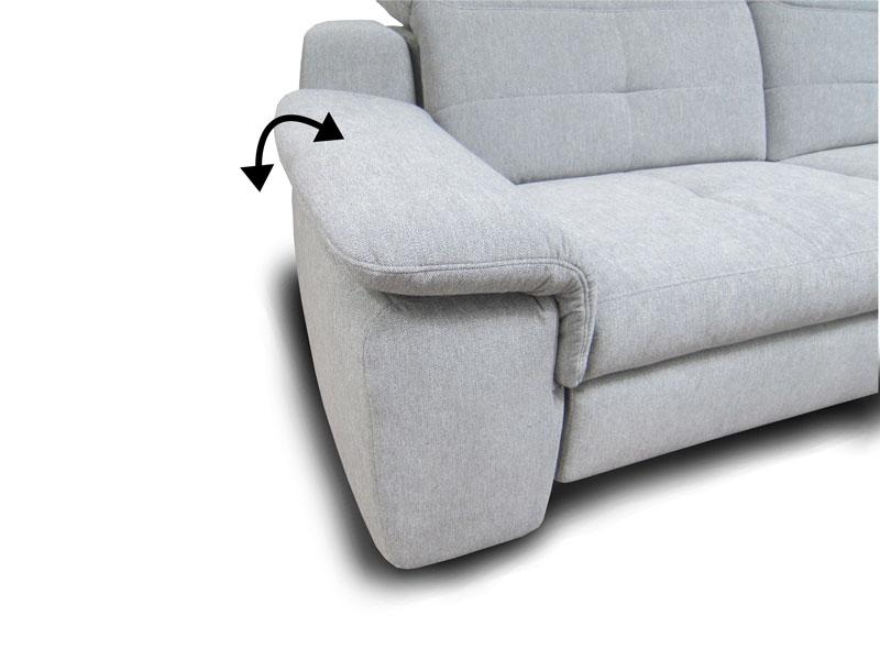 Milano ülőgarnitúra H karfa: széles, állítható változat láb nélkül.
