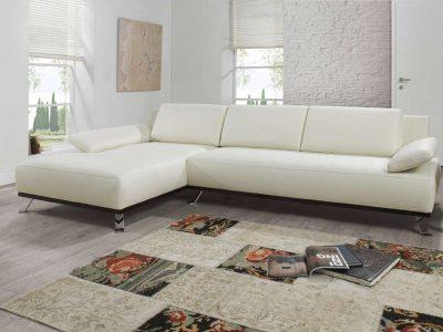 Fehér ADA Prémium Akita L alakú ülőgarnitúra