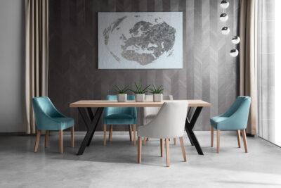 Fargo asztal Zanzibár székkel