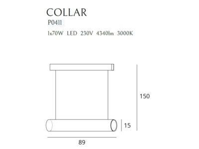 COLLAR P0411 függeszték