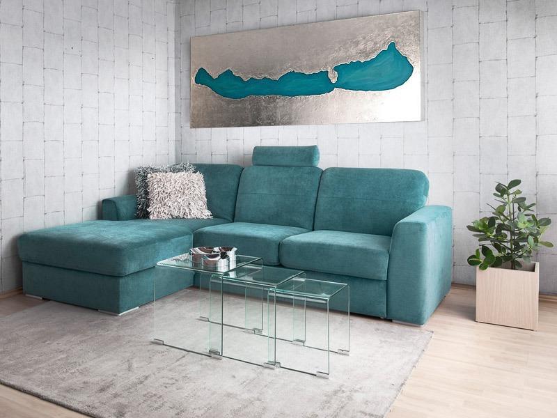 A BELLA ülőgarnitúra vendégággyal és ágyneműtartóval kétféle méretben rendelhető.