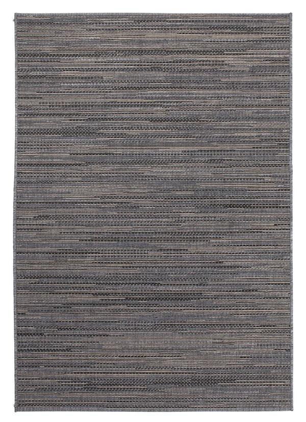 A Lalee Home Sunset SUS 600 szürke szőnyeg egy beltéri és kültéri használatra is alkalmas modern szőnyeg.
