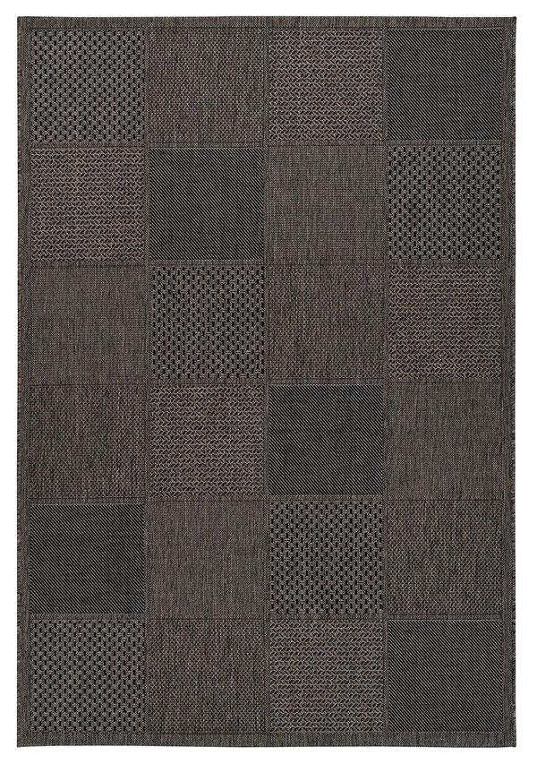 A Lalee Home Sunset SUS 605 taupe szőnyeg egy beltéri és kültéri használatra is alkalmas modern szőnyeg.